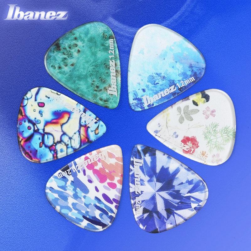 Ibanez KALEIDO Series Guitar Picks For Mediator Acoustic Electric Guitarra Ukulele Accessories Transparent Colorful Guitar Pick