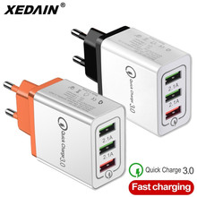 Universal 18 W USB Quick charge 3.0 5V 3A for iphone 6 7 8 EU/US Plug Mobile Phone Fast charger charging for Samsug s8 s9 Huawei 3 usb quick charge 3 0 5v 3a eu us for iphone 7 8 eu us plug mobile phone fast charger charging for samsug s8 s9 xiaomi note 7