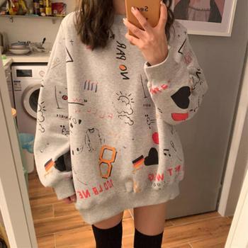 Kawaii Harajuku Sweatshirts Women's Clothing & Accessories Tops & Tees Hoodies & Sweatshirts Sweaters cb5feb1b7314637725a2e7: Blue|Gray|Pink