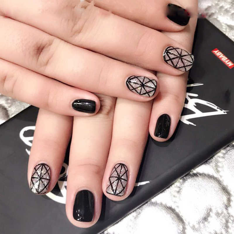 14 porady naklejki do paznokci kolorowe samoprzylepna naklejka DIY Manicure błyszczące cekiny polski paznokci paski okłady akcesoria dla kobiet