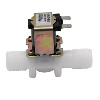 Nowy 12 24 220V elektryczna cewka zawór magnetyczny DC N C wlot wody powietrza przełącznik przepływu 1 2 #8243 tanie i dobre opinie Kontrola 1 2 Niskie ciśnienie Standardowy Elektromagnetyczny Z tworzywa sztucznego Normalna temperatura
