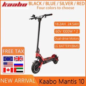 Original Kaabo Mantis 10 Kickscooter 60V 18.2AH /24.5AH LG Battery 2000W Dual Motor Dual Brake Smart Electric Scooter Skateboard