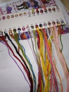 Image 4 - Комплект для вышивки крестиком t Birds, цветущий персик и птицы, хлопковая Вышивка крестиком, мечты подружек