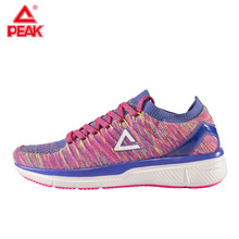 PEAK Women Running Shoes Breathable Woven Sock Sneakers Shoes Culture Textile Light Sports Shoes for Women E72238H li ning genuine women s cushion running shoes sports textile light weight sneakers lining breathable shoes arhm034