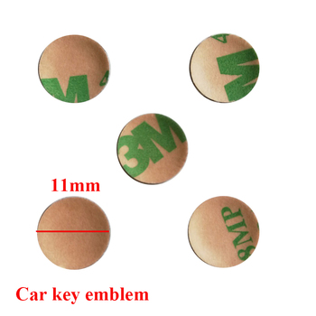 5pcs 11mm Car Key Stickers Logo Remote key pad Sticker Emblem For BM E90 E60 F10 F30 E39 E36 F20 E87 E92 E30 X3 X5 E46 E83 image