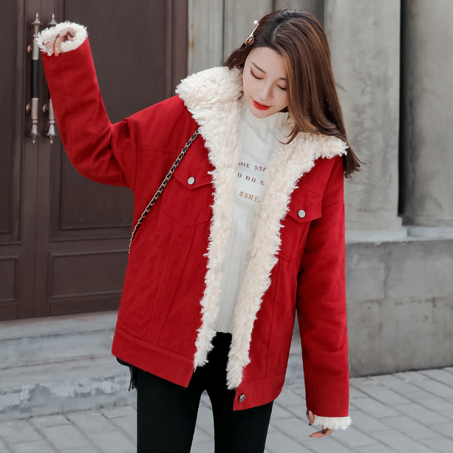 Winter Warm Coats Women Wool Slim Fur Coat Jackets