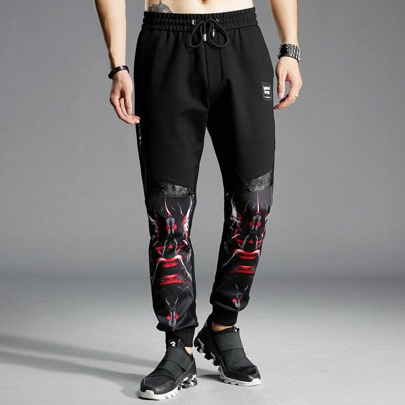 Europe And America Joint Fashion Man Pants Slim Fit Sweatpants Printed Men Skinny Pants Rome Cotton Nylon 380G/M? K893