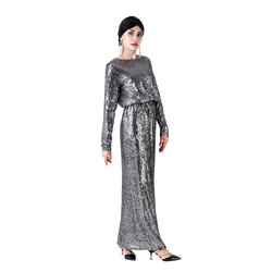 2 Piece Set Islam Muslim Tops and Skirts Women Sequin Embroidery Suit Dubai Turkish Long Skirt Middle East Arab Islamic Clothing