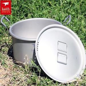 Image 4 - Титановый кастрюль для супа объемом 6 л, Нетоксичная кухонная утварь для приготовления пищи, кемпинга, походов, охоты, пикника, 1 шт.