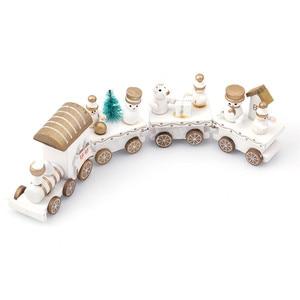 Image 5 - חדש חג המולד רכבת צבוע עץ צעצועי עם סנטה/דוב חג המולד קיד צעצועי מתנת קישוט navidad חג המולד צעצועים לילדים
