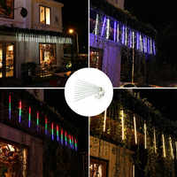 JSEX LED Meteor Shower String Lights Fairy Lighs Graland Christmas Deal Lighting Twinkle Lights Home Decoration Waterproof IP44