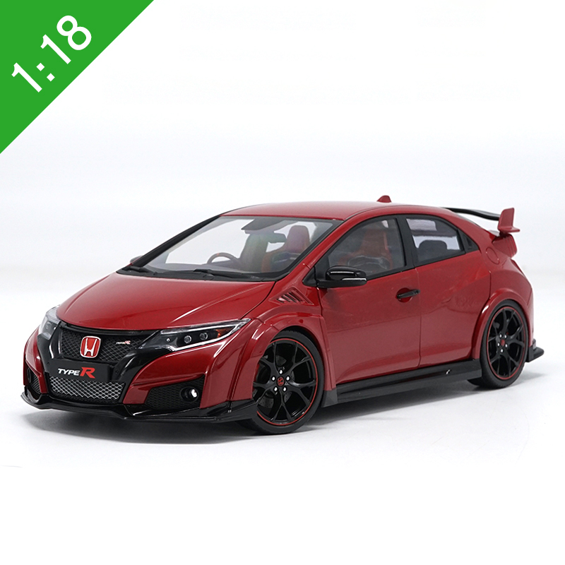 High Meticulous 1:18 Honda Civic type R Alloy Model Car Static Metal Model Vehicles Original Box For Collection