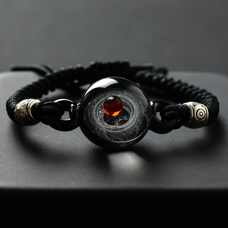 BOEYCJR, горячая Распродажа, Вселенная, планеты, стеклянные браслеты из бисера и браслеты, модные ювелирные изделия, галактика, солнечная система, браслет для женщин, Рождество - Окраска металла: 2