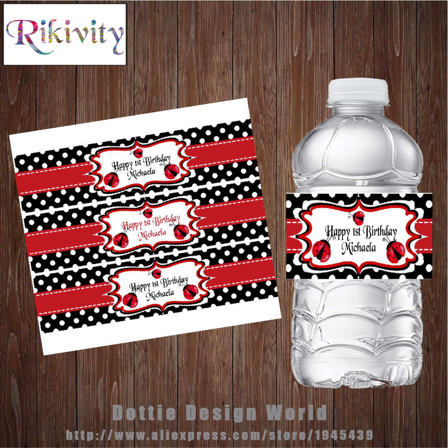 Pack of 12 Cute Mouse Personalised Mini Wine Bottle Labels