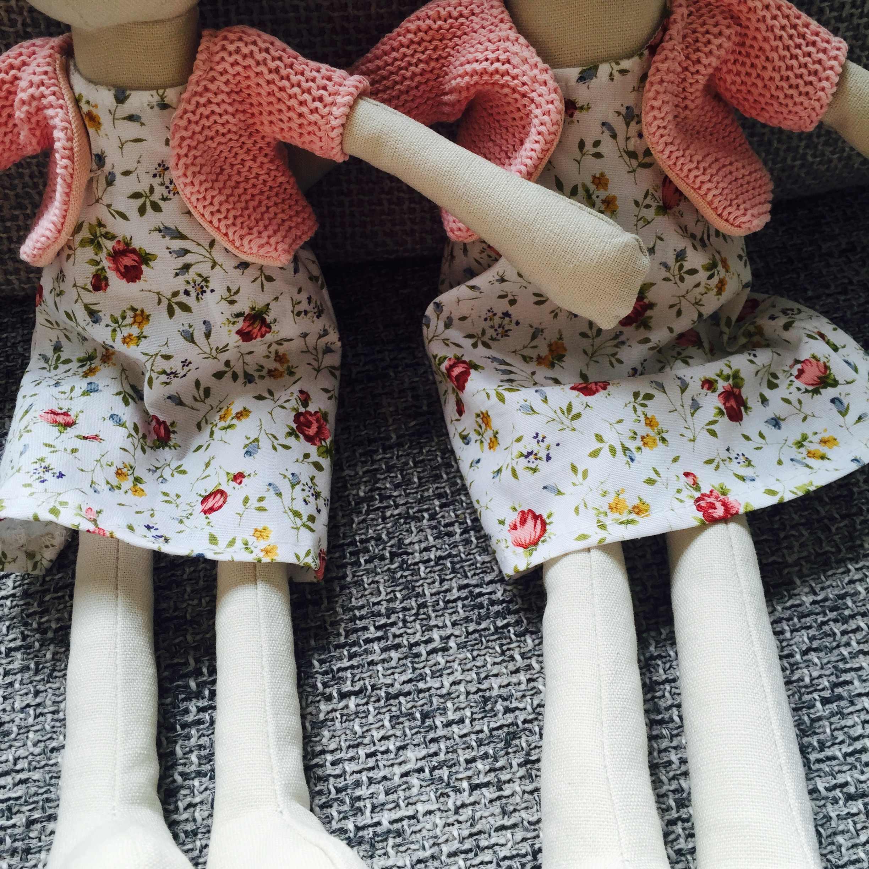 高級ピンクのウサギの女の子とドレスぬいぐるみ高品質綿の布の人形かわいい手作りぬいぐるみバニー人形ぬいぐるみ