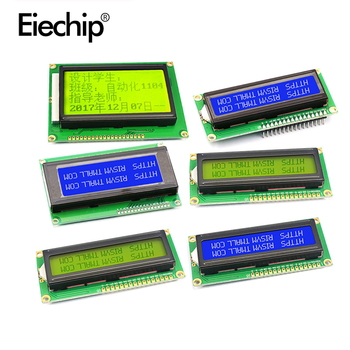 1602A 2004 5V LCD display with blacklight for arduino screen, LCD character display blue/yellow green with IIC/I2C adapter board blacklight blue