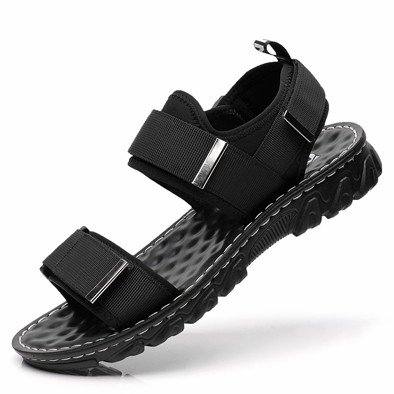 2020 New Top Quality Sandal Men Sandals Summer Genuine Leather Sandals Men Outdoor Shoes Men Leather Shoes Big Plus Size 38-44