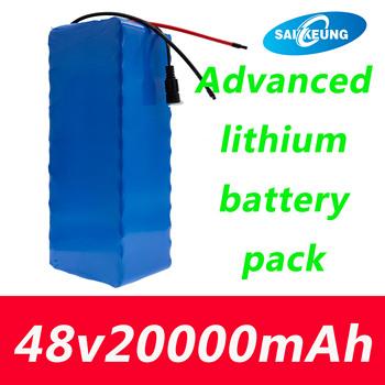 48 V 20Ah 13s4p High Power 18650 li-ionbattery elektryczny rower motorower motocykl elektryczny akumulator 48 V ochrona BMS + 2A ładowarka tanie i dobre opinie SAIKEUNG Rohs CN (pochodzenie) 245mm*70mm*75mm 13s4p48v20ah lithium ion