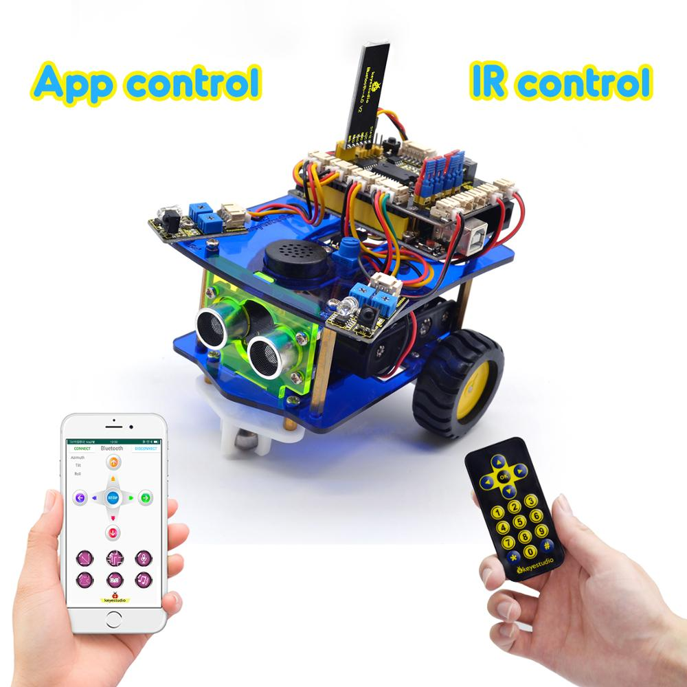 Image 2 - Keyestudio Desktop Mini Bluetooth Smart Robot Car Kit  V3.0 for Arduino Robot STEM/Support Mixly blocks coding-in Integrated Circuits from Electronic Components & Supplies