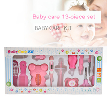 13Pcs Infant Grooming Kit Scissor Clipper Nail Comb Hair Brush Thermometer Child Care Tool for Baby Healthcare Set