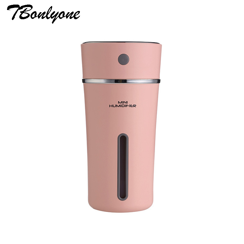 300ml Air Humidifier Rechargeable 500mA built-in Lithium Battery Ultrasonic Aroma Car Humidifier LED Lamp Humidificador