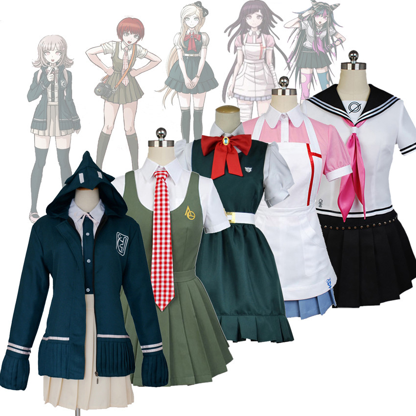 Anime Danganronpa 2 Nanami Chiaki Koizumi Mahiru Mikan Tsumiki Cosplay Costume Mioda Ibuki Uniform Full Set Clothes