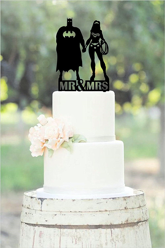 Wedding Anniversary Party Unique Cake Topper Superhero Batman And