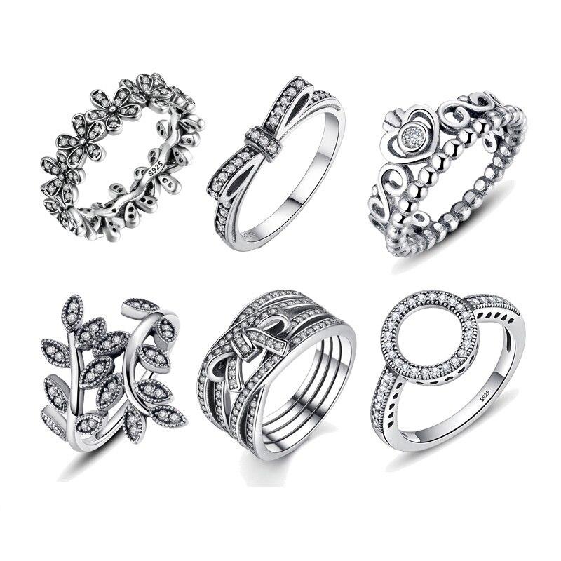 Gorąca sprzedaż 100% 925 Sterling Silver Rings hurtownie popularny kwiat szczęście pierścienie dla kobiet tworzenia biżuterii Dorpshipping
