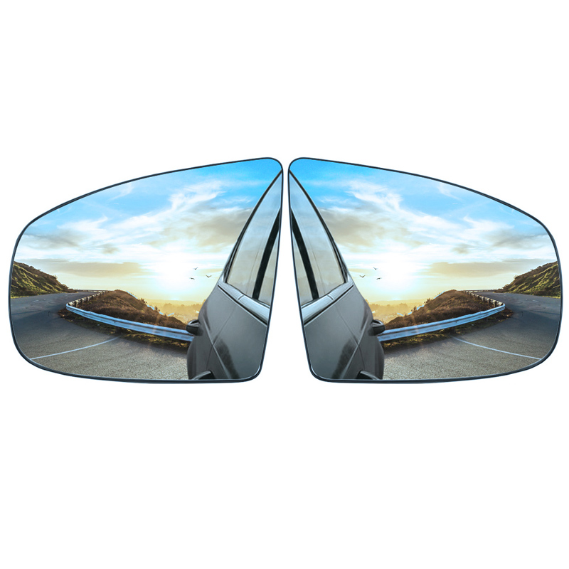 Blue Heated Door Wing Mirror Glass Left Side fit for BMW X5 E70 X6 E71 E72 07-14