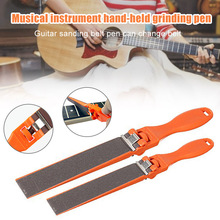 Guitar Fret Crowning Luthiers Tools File Narrow Dual Cutting Edge Durable Leveling Tool Grinding Protectors Repair Part Set stainless steel dual scale guitar neck notched straight edge luthiers tool measurement fretboard and frets