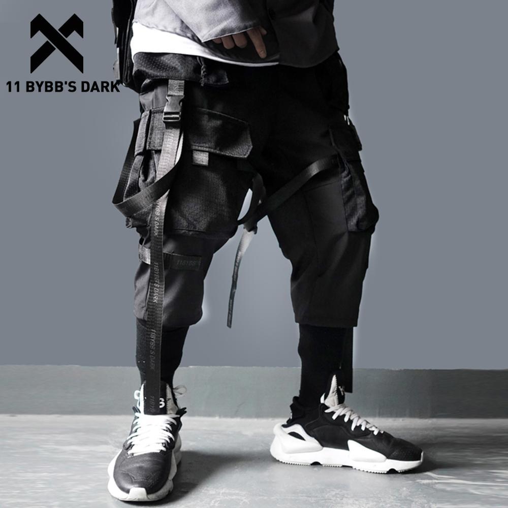 11 BYBB'S DARK Ribbons Multi Pockets Cargo Pants Men Harajuku Casual Track Trouser Hip Hop Streetwear Techwear Pants Joggers Men