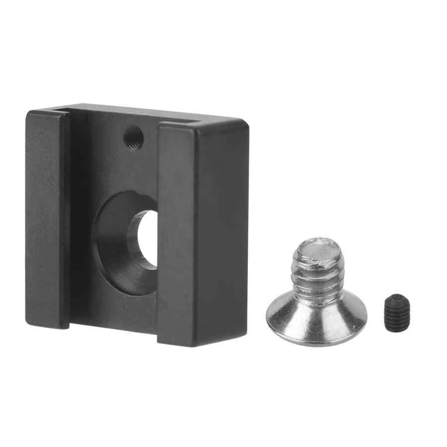 "1/4"" Screw Flash Hot Shoe Mount for Camera Tripod Photo Studio Kit Aluminium Alloy Hotshoe Mount for Microphone and Flash Light"