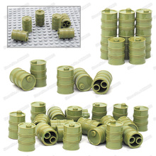 Military Green Oil Drum Building Blocks Piece Lot Diy Army Soldier Figures Weapons Technology Set Model Boy Christmas gifts Toys