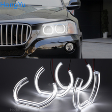For BMW X3 F25 2010 2011 2012 2013 2014 Pre facelift Excellent DTM M4 Style Ultra bright led Angel Eyes halo rings Car styling