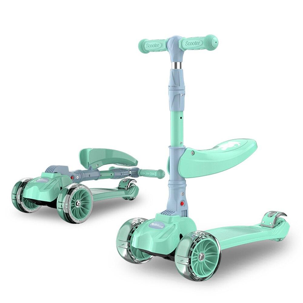 Складной детский скутер, автомобиль для детей от 2 до 9 лет, Скейтер, скутер для серфинга с мигающими колесами, складной скутер, ходунки, уличн...