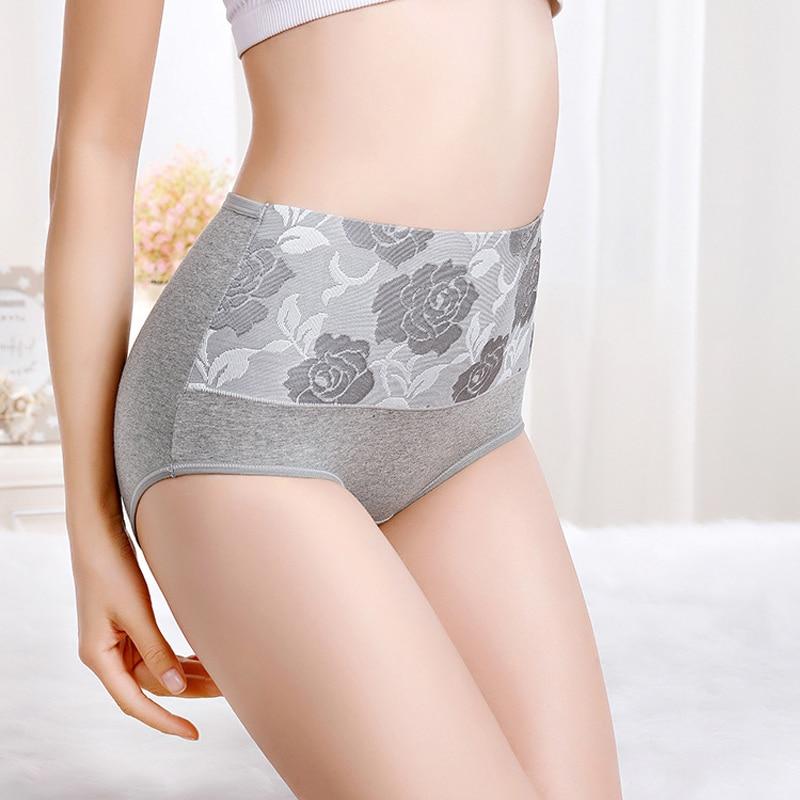 3PCS Plus Size 5XL Women Cotton   Panties   3pcs/lot Women Sexy high waist underwear women Intimates high quality Briefs Lingeries