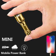 USB Rechargable MINI XPG Flashlight Portable Torch Outdoor 3 Modes Camping Handlamp Waterproof Zoomable Lamp Bicycle Handy Light