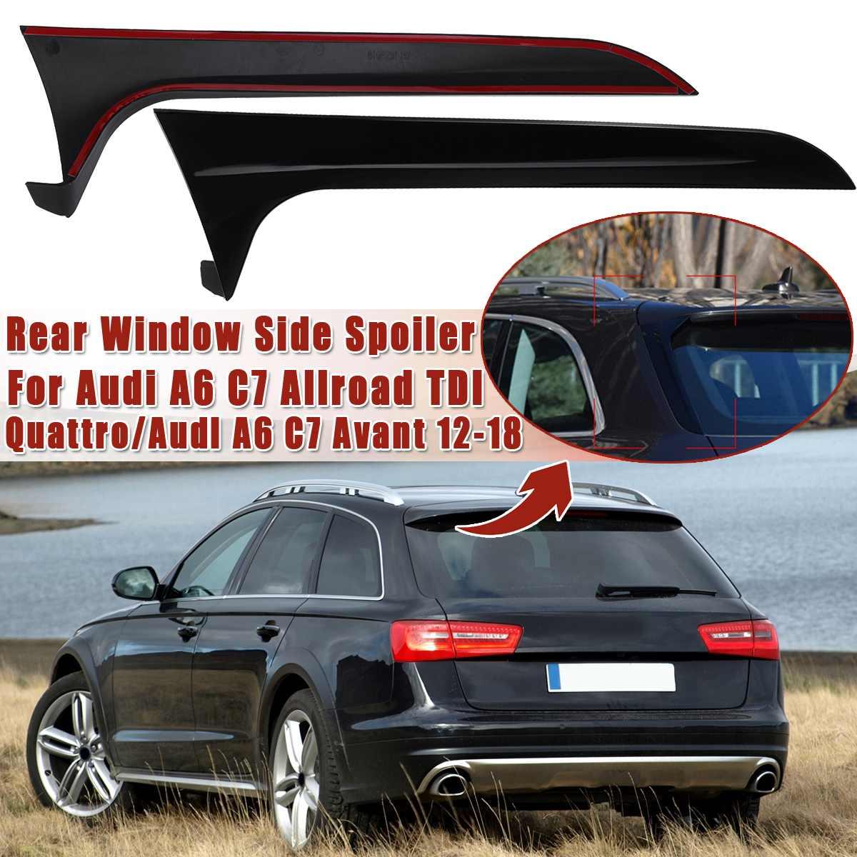 Arrière derrière fenêtre Spoiler bande latérale garniture de couverture Kit de Refit extérieur adapté pour Audi A6 C7 Allroad TDI Quattro/pour Avant 2012-2018