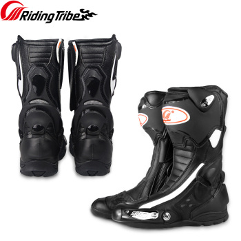 Riding Tribe Men Women Motorcycle Racing Protective Boots Full Season Anticollision Anti-skid Shoes Equipment