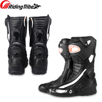Riding Tribe Men Women Motorcycle Racing Protective Boots Full Season Anticollision Anti skid Shoes Motorcycle Equipment