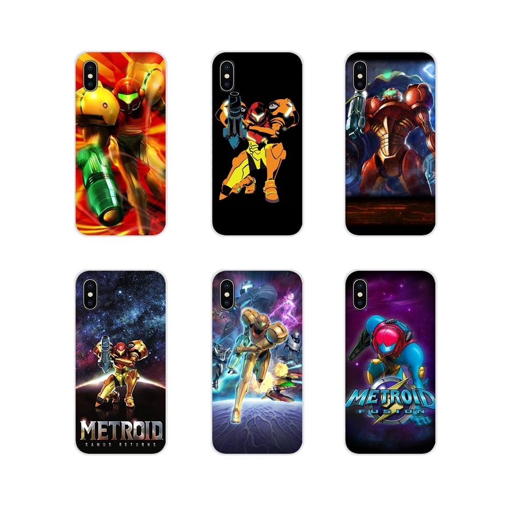 metroid games poster Accessories Phone Cases Covers For Samsung A10 A30 A40 A50 A60 A70 Galaxy S2 Note 2 3 Grand Core Prime image