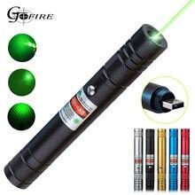 Зеленый лазер usb перезаряжаемая Зарядка Высокая мощность луч
