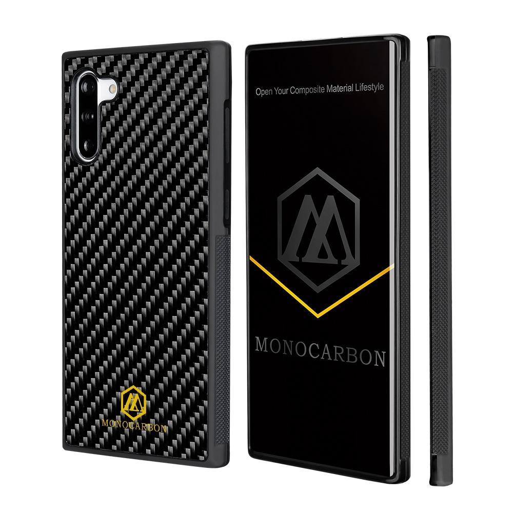 MONOCARBON Genuine Carbon Fiber Case for Samsung Galaxy Note 10 10 Plus 5G  Anti Slide- Non Slip Carbon Fibre Case Cover