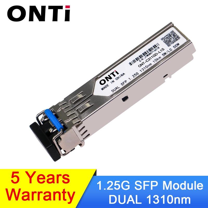 1000Mbps Gbic Single Mode Duplex SFP Module 2 LC Compatible Cisco/Mikrotik Switch GLC-LH-SM Fiber Optic Module 20/40/80/120KM