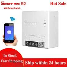Sonoff Mini R2 Wifi Smart Switch Two Way Control Smart Home Automation Modules Wireless Timer DIY Switch Via EWelink APP Alexa