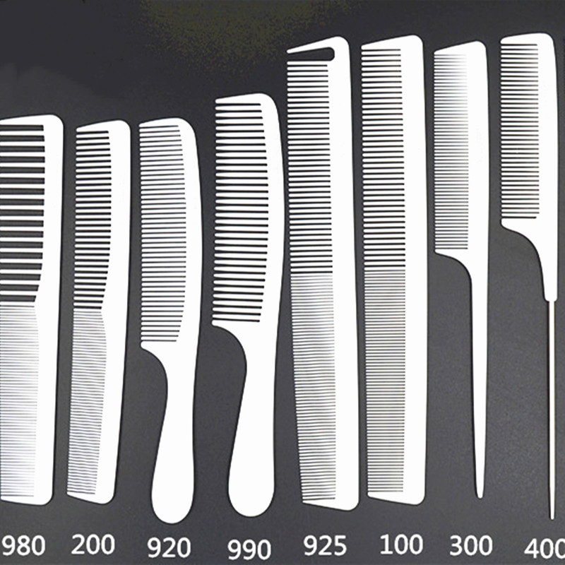 1PC Professional Highlight Comb Fine-tooth Hair Salon Dye Antistatic Plastic Tail Combs Double-sided Hairdressing Styling Tool