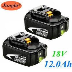 Original para Makita 18V 12000mAh 12.0Ah batería recargable de herramientas con LED Li-ion de repuesto LXT BL1860B BL1860 BL1850