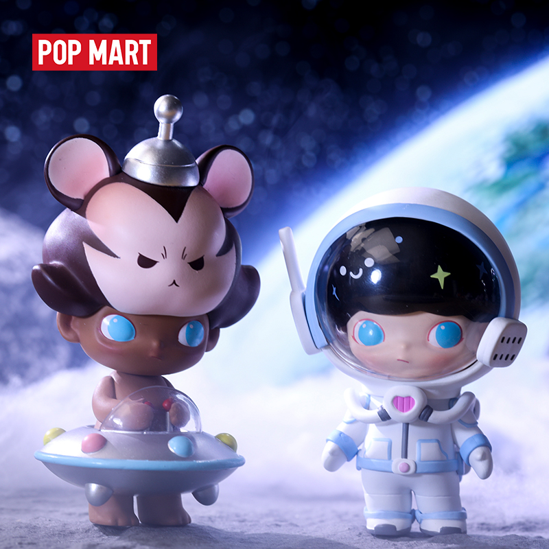 POP MART Dimoo Space Travel Blind Box Doll Binary Action Figure Birthday Gift Kid Toy Animal Story Toys Figures Free Shipping