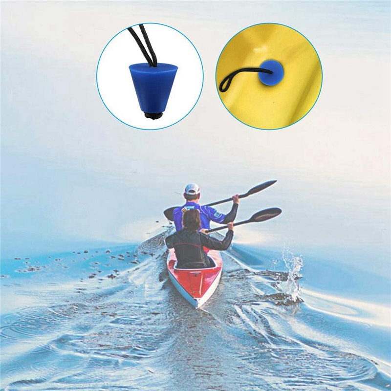 4Pcs Universal Silicone Kayak Scupper Plug Set Canoe Drain Holes Stopper Bung