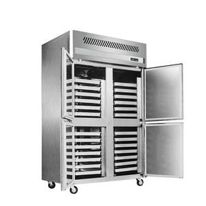 Commercial Freezer Cabinet Cooling 28-Trays 304-Stainless-Steel Fan Kitchen Minus-22-Degree